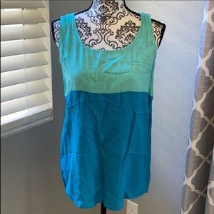 New Everly Grey Maternity Blue Tank Top